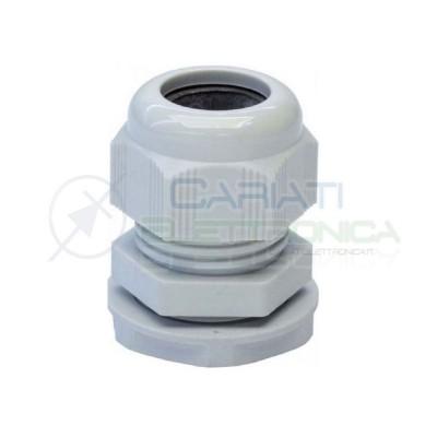 2 Pezzi Boccola pressacavo passacavo in Nylon per cavi 10-5 mm2 Diametro base 18mm Generico