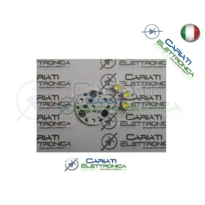 1pz BASETTA BASE PCB ALLUMINIO PER 3 LED POWER 1,00 €
