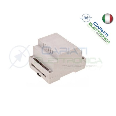Contenitore Custodia DIN per Guida 90 X 70 X 65 mm Anfitiamma Grigio Domotica