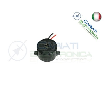Cicalino Buzzer attivo 3V 5V 12V 24V Oscillatore Integrato Diametro 23mm