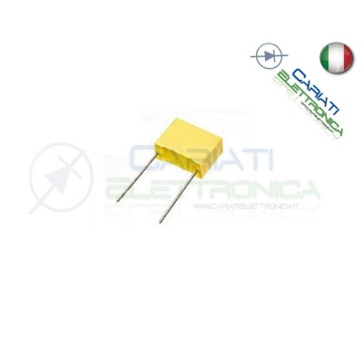 50 PEZZI Condensatore Poliestere 100nF 100 nF 63V P 5mm 4,00 €