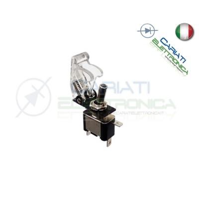 Interruttore Leva Con Led Bianco Tuning 12V 20A Trasparente