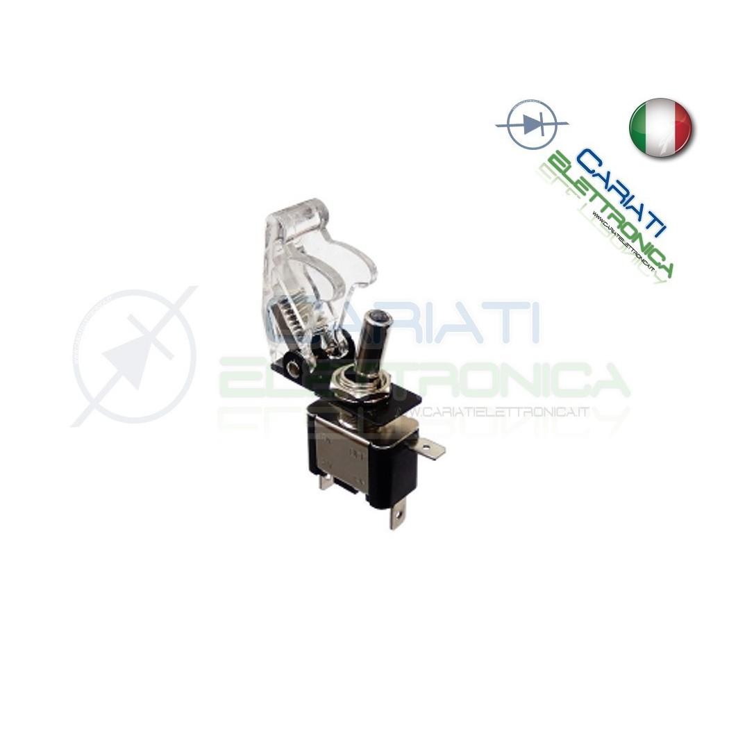Interruttore Leva Con Led Bianco Tuning 12V 20A Trasparente 4,00 €