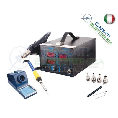 STAZIONE 892D+ DIGITALE AD ARIA CALDA CON SALDATORE 2 IN 1 SALDANTE Guangzhou Yihua Electronic Equipment Co.,Ltd. 145,00 €