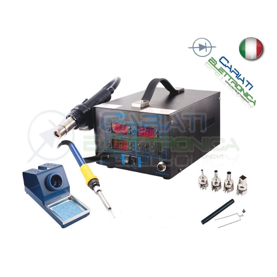 STAZIONE 892D+ DIGITALE AD ARIA CALDA CON SALDATORE 2 IN 1 SALDANTE Guangzhou Yihua Electronic Equipment Co.,Ltd. 145,00 €