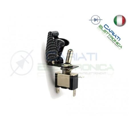 Interruttore Leva Con Led Giallo Tuning 12V 20A Carbonio