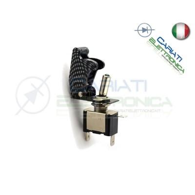 Interruttore Leva Con Led Rosso Tuning 12V 20A Carbonio