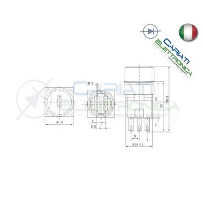 Interruttore Deviatore da Pannello a Chiave DPDT 6 PIN