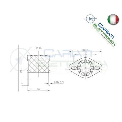 Termostato Interruttore Termico 110°C N.C. Ventole Dissipatore  1,90€