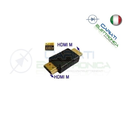 Adattatore Convertitore HDMI Maschio Maschio MM Placcato Oro Full HD  1,90 €