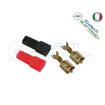 Kit 50 PEZZI Faston Femmina 6,35x0,8mm con 50 Coprifaston Rosso Nero 4,50 €