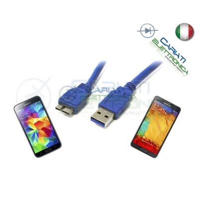 5 PEZZI CAVO USB 3.0 1.8 metri mt 1.8m PRESA CONNETTORE PER SAMSUNG S5 NOTE 3