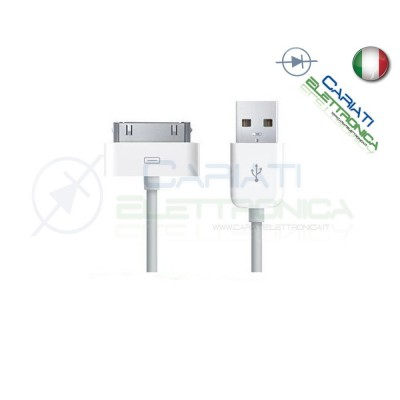CAVO DATI USB IPHONE 3 3G 3GS 4 4S IPAD IPAD2 IPOD 1,99 €