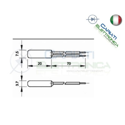 Termostato Sensore di Temperatura Interruttore Termico N.C. 130°C  1,49€