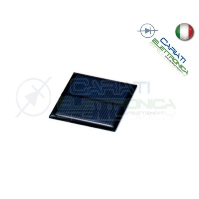 Cella Pannello Solare Fotovoltaico 3V 100mA 55x50 mm