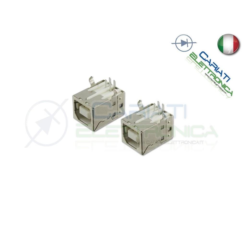 2 Pezzi Connettore Presa Porta USB B  1,00€