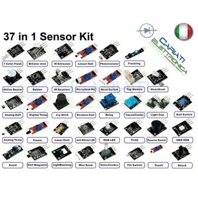 Kit 37 Sensori Moduli Per Arduino  33,99€