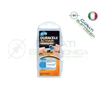 6 Pile Batterie per Apparecchi Acustici Protesi Acustiche DURACELL 675Duracell
