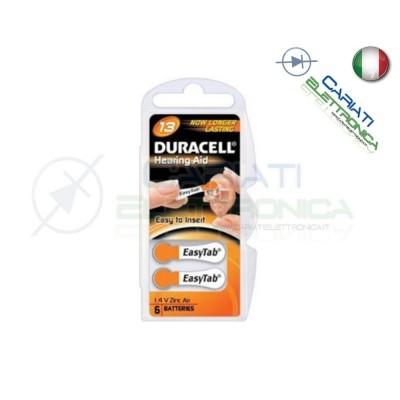 6 Pile Batterie per Apparecchi Acustici Protesi Acustiche DURACELL 13Duracell