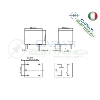 Relay Relè 24V Dc 10A Circuito Stampato Pcb 1 Scambio SRD-24VDC-SL-C SRDSongle