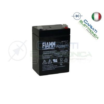 BATTERIA ERMETICA AL PIOMBO RICARICABILE FIAMM 12V 2,7Ah FG20271 Fiamm