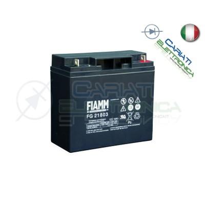 BATTERIA ERMETICA AL PIOMBO RICARICABILE FIAMM CICLICA FGC21803 12V 18Ah Fiamm