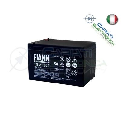 BATTERIA ERMETICA AL PIOMBO RICARICABILE FIAMM FG21202 12V 12Ah UPS ALLARME Fiamm