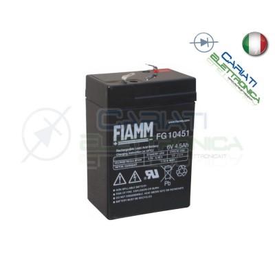 BATTERIA ERMETICA AL PIOMBO RICARICABILE FIAMM FG10451 6V 4,5AhFiamm