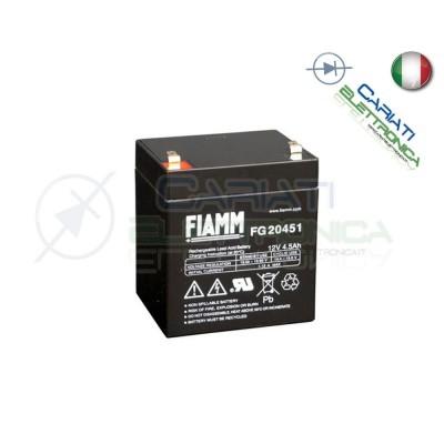 BATTERIA ERMETICA AL PIOMBO RICARICABILE FIAMM FG20451 12V 4,5AhFiamm
