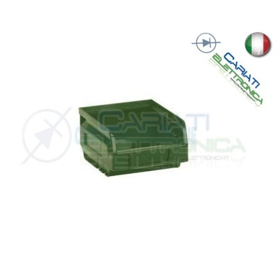 Contenitore in Plastica BOCCA DI LUPO Dimensione L 105 P 88 H 54 mm
