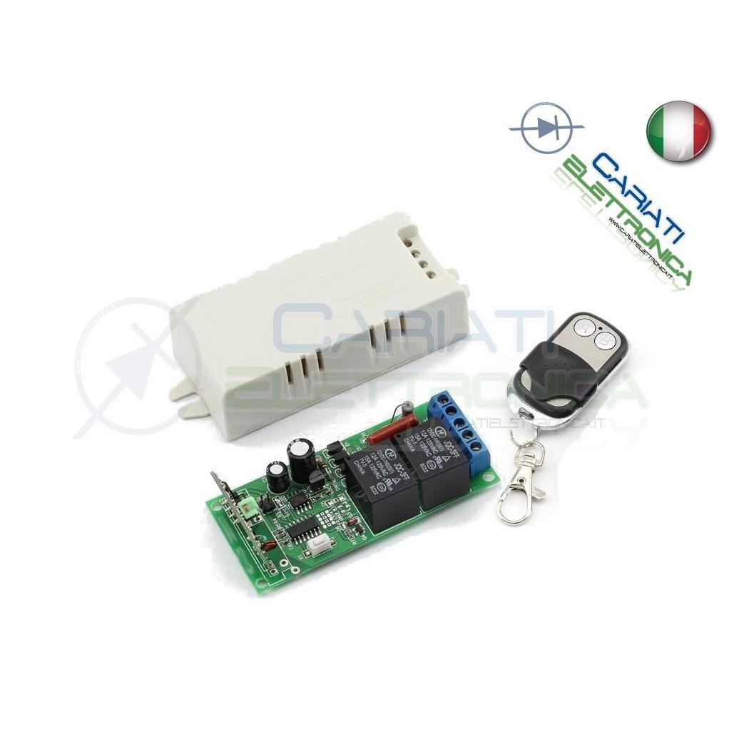 Accensione Lampadario Con Telecomando scheda ricevente ricevitore 230v 433 mhz 2 relè canali con telecomando