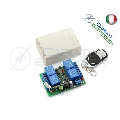 Scheda Ricevente Ricevitore 12V 433 Mhz 4 Relè Canali con Telecomando