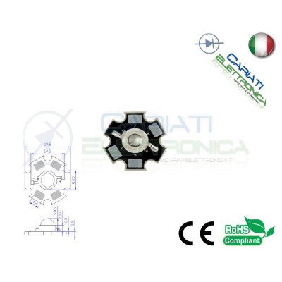 Led Power ROSSO 620nm 1W 1 Watt 40 Lumen Lm 350mA 2,00 €