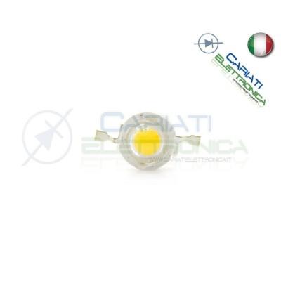 5pz Led Power Bianco Freddo 1W 1 Watt 100 Lumen Lm 350mA 10,00 €