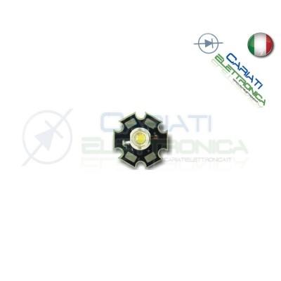 5 pz Led Power Bianco Freddo 1W 1 Watt 100 Lumen Lm 350mA 12,50 €