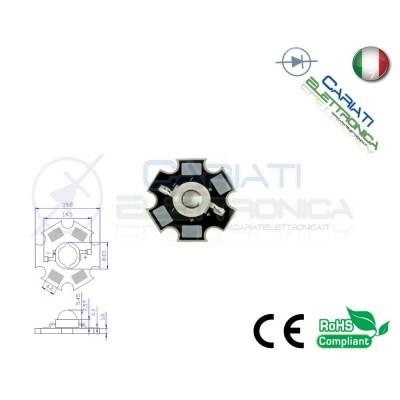 10 pz Led Power BLU 460nm 3W 3 Watt 90 Lumen Lm 700mA  28,00€