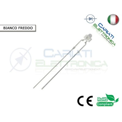 20 pz Led 1,8mm Bianchi Bianco 13000mcd Alta Luminosità