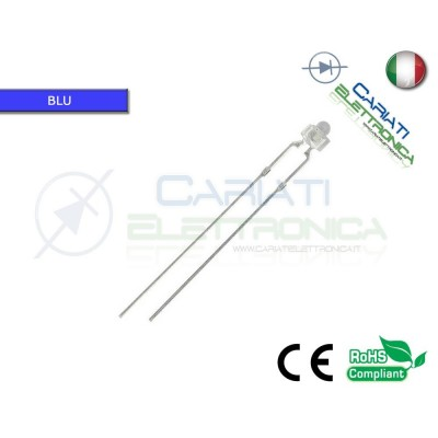10 pz Led 1,8mm BLU 5000mcd Alta Luminosità