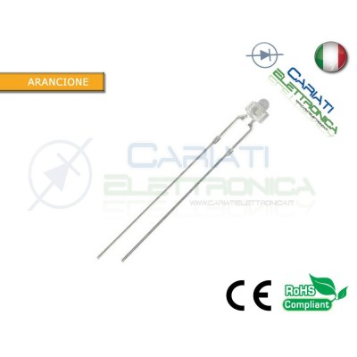 20 pz Led 1,8mm Arancioni 5000mcd Alta Luminosità