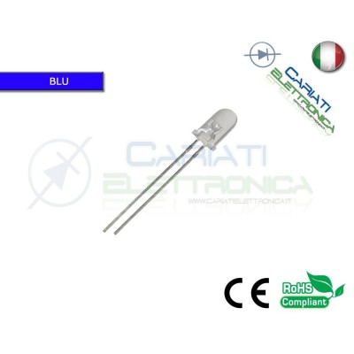 500 pz Led 5mm Blu 10000mcd alta luminosità 45,00 €