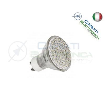 Lampada Lampadina Faretto Luce con 80 LED GU10 230V 4W BIANCO FREDDO