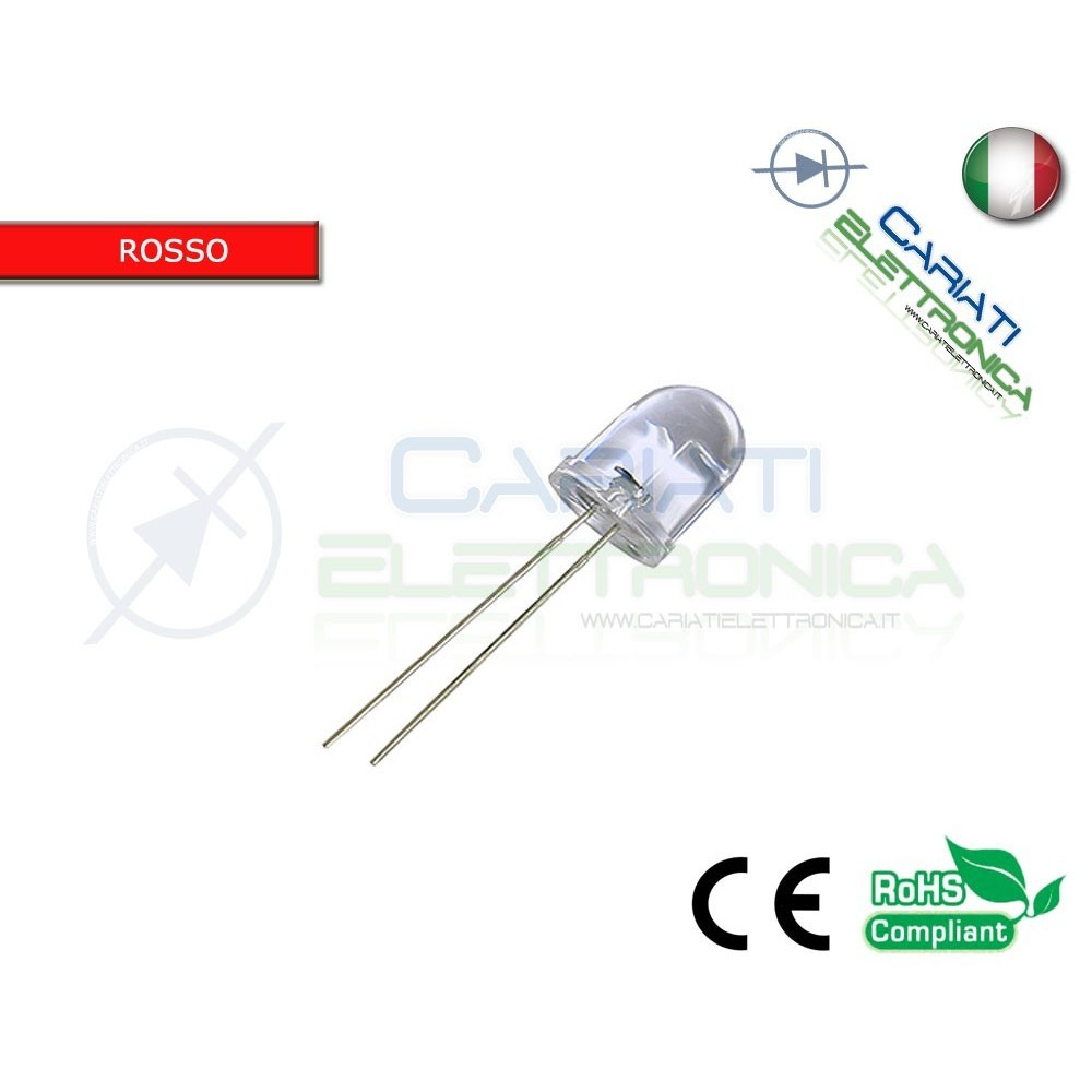 20 pz LED 10mm ROSSI ROSSO SUPERBRIGHT 10000mcd alta luminosità 4,00 €