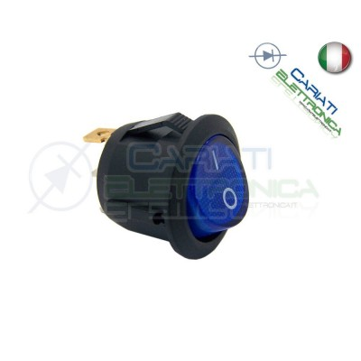 Interruttore Con Led Blu 20A 12V