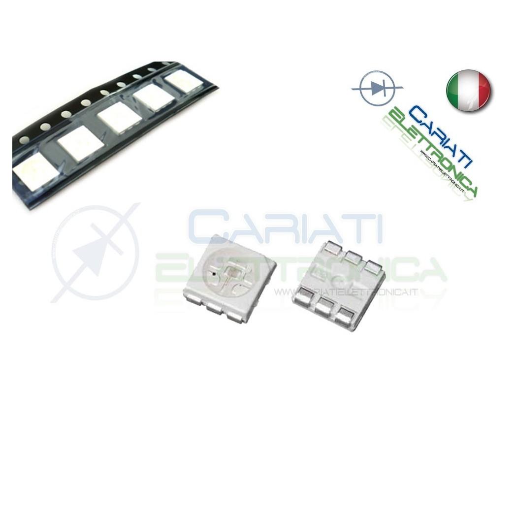 10 pz Led smd 5050 BIANCHI BIANCO PLCC6 alta luminosità