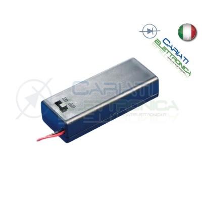 Porta Batteria Per Pila 9V con Interruttore e Cavi