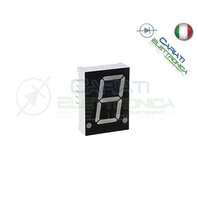 "2 Pezzi Display 3"" 19mm 7 Segmenti Blu Anodo Comune"