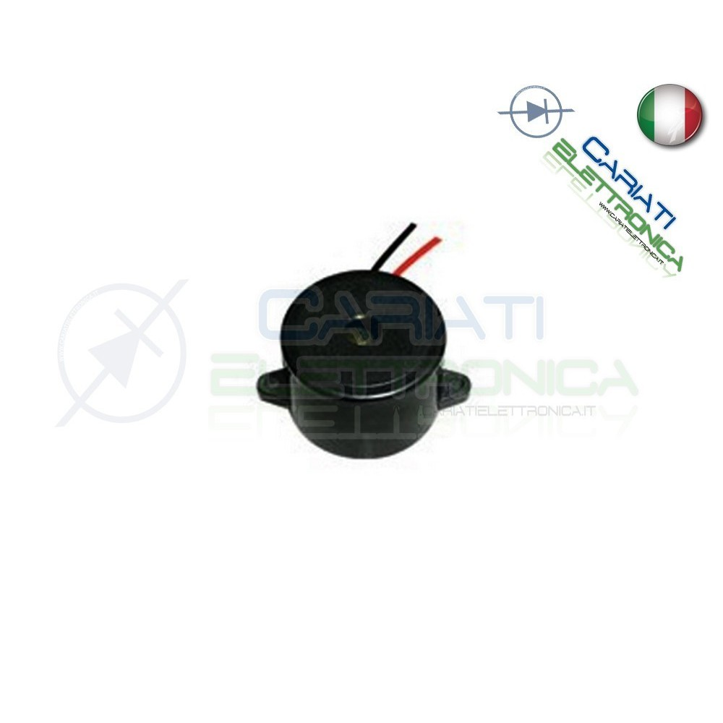 Cicalino Buzzer attivo 5V 12V 24V Oscillatore Integrato Diametro 23mm  1,55€