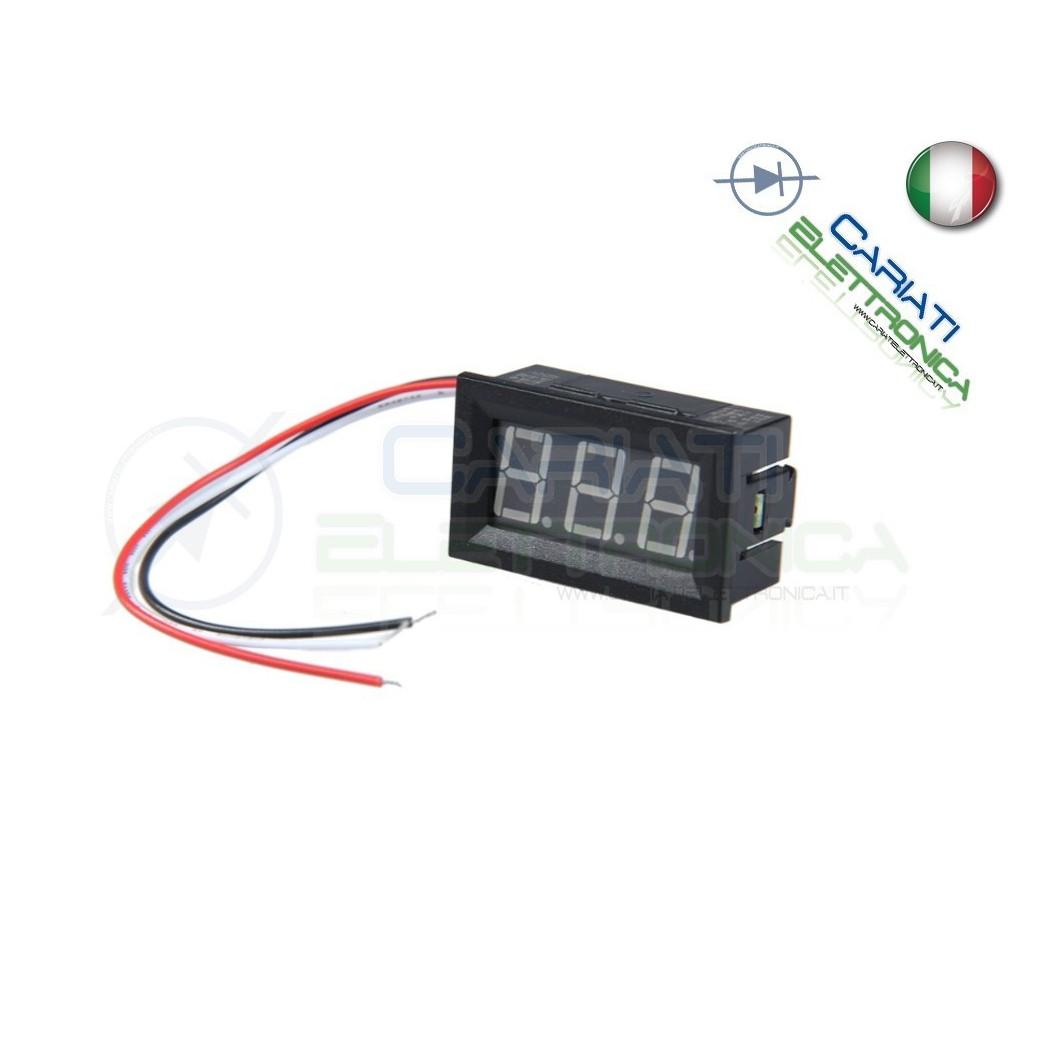 Display Lcd VERDE Voltometro DC da pannello 0V-100V Tensione Tester 5,00 €
