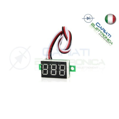 Display Lcd ROSSO Voltometro DC 0-100V Tensione TesterGenerico