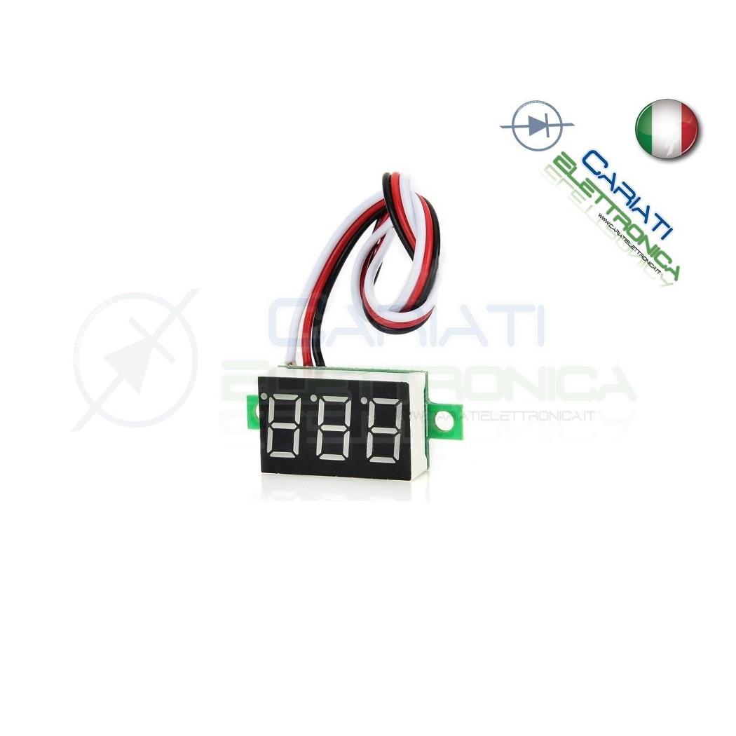 Display Lcd ROSSO Voltometro DC 0-100V Tensione Tester 4,99 €